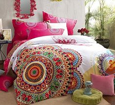 FADFAY Home Textile,Boho Style Bedding Set,Boho Duvet Cover Set,Bohemian Bedding Set,Queen,4Pcs FADFAY http://www.amazon.com/dp/B00MHLJFOW/ref=cm_sw_r_pi_dp_zsM.tb00D12VV