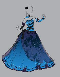 Diseño vestido princesa azul