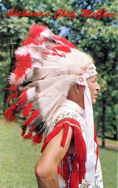 UNITED STATES (Alabama) - Calvin W. McGhee (1903-1970), Chief of the Poarch Band of Creek Indians