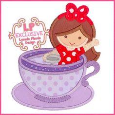 Teacup Ride Girl 4x4 5x7 6x10 7x11