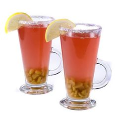 This unusual recipe makes a delicious and refreshing beverage which makes a wonderful pick-me-up at any time. You can serve it as an appetizer or a dessert, or simply a flavorful drink for the mid-morning or mid-afternoon when you fancy something to accompany a cookie or slice of cake. This rhubarb drink is made in two parts. First there is a stewed rhubarb layer and then there is a lemon, rosemary, and rhubarb liquid which is made as a syrup and diluted with soda water.
