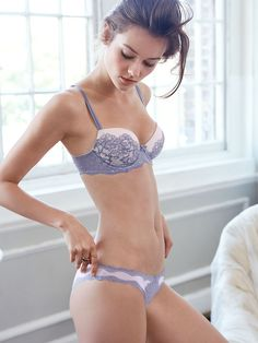 modelmylove: Good morning and happy Tuesday bombshells. With a beautiful day ahead I am wrapping up in the perfect color, lace, and light as air comfort love. My picks are from the VS Dream Angels collection and a...
