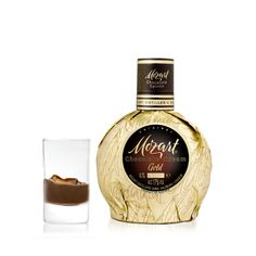 #Mozart Gold milk chocolate liqueur  Very creamy and full-bodied cream liqueur. Made from cream and the ingredients of gourmet chocolate.