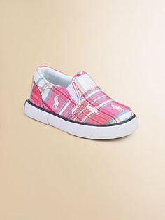Ralph Lauren - Infant's & Toddler Girl's Plaid Bal Harbour Repeat Sneakers