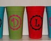 vinyl on cups