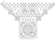 """Autumn Delight - Casaco rendado DROPS em croché, em forma de quadrado, em """"Delight"""". Do S ao XXXL. - Free pattern by DROPS Design"""