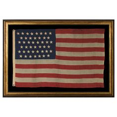Jeff Bridgman Antique Flags and Painted Furniture - 45 STARS ON AN FLAG WITH NICE COLOR AND IN A SMALL SCALE FOR THE PERIOD, 1896-1907, SPANISH-AMERICAN WAR ERA, UTAH STATEHOOD
