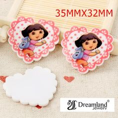Find More Resin Crafts Information about 50pcs/lot 35MMx32MM New Cartoon Character Resin Flatbacks For Hair Bow Kawaii Dora Planar Resin for DIY Phone Decoration DL 233,High Quality Resin Crafts from Dreamland Fashion Jewelry on Aliexpress.com