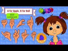 A for Apple, B for Ball ASL   Kids Rhyme Box   Fun learning for kids #kidsrhymebox #signlanguage #asl #abcd #aforapple #bforball #parenting #kindergarten #teachers #playschool #bloopandkatty