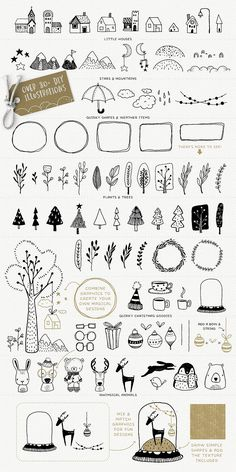 40% Off! Merry & Bright design kit - Illustrations - 5