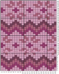 Pinkness Norwegian Fair Isle pattern