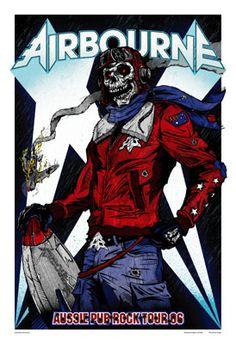 Posters : Airbourne - Aussie Pub Rock Tour 2006