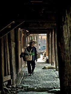 Life in Zhaoxing. Guizhou, China; villager by Tariq Sawyer, via Flickr