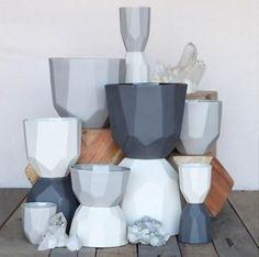 HomArt Quartz Faceted Ceramic Bowl