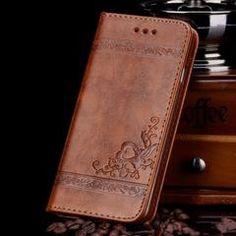 Elegant Shockproof PU Leather Wallet Flip Phone Case