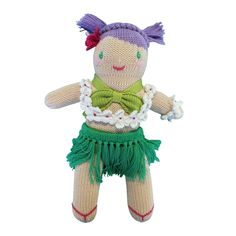 Layla The Hula Girl | Petit Ami and Zubels baby toys and gifts Baby Girl Toys, Toys For Girls, Flower Lei, Hula Girl, Knitted Dolls, Girl Dolls, Little Ones, Teddy Bear, Costumes