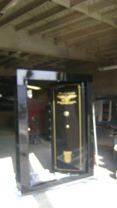 Double door in swing vault door