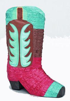 1 BIG Cowboy Boot Pinata Mexican Fiesta Western by SupplyCrate, $25.00