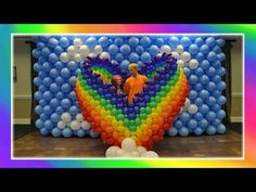 Rainbow Heart Balloon Art! - YouTube