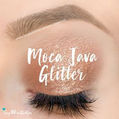 Limited Edition Moca Java Glitter is a gleaming, light cocoa brown with warm gold glitter.  It is a SeneGence ShadowSense, long lasting eyeshadow.  #mocajavaglitter #glitter #shadowsense