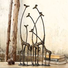 World Menagerie Aymeric Decorative Towering Giraffe Herd Statue African Animals, African Safari, African Art, African Design, Artist And Craftsman, Modern Artists, Decorative Objects, Decorative Accessories, Contemporary Style