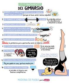 Totalmente ciertos: Los 10 #mandamientos del gimnasio. #gym