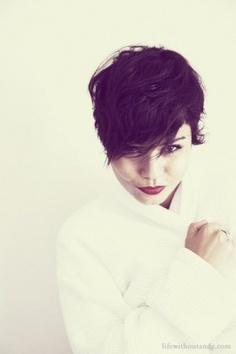 more wavy short hair. :)