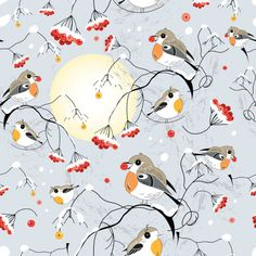 Cute hand drawn Birds vector graphic