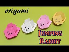 Easy origami toy for beginners -paper jumping rabbit- with one piece of paper - YouTube
