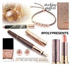 """""""#PolyPresents: Stocking Stuffers"""" by divni ❤ liked on Polyvore featuring beauty, Monica Vinader, Butter London, Fountain, contestentry and polyPresents"""