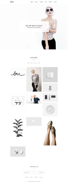 Beau - Minimal Portfolio/Agency WordPress Theme #webdesign Download: themeforest.net/...