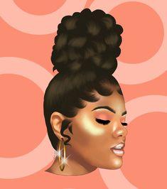 Featuring: Leah Allyannah By: Jordan Weise Black Love Art, Beautiful Black Girl, Black Girl Art, Black Girl Magic, Black Girls, Black Women, Black Art Painting, Black Artwork, African American Artwork