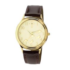 Inspirations by Timelink Men's 34102 Footsteps Leather Strap Watch Inspirations by Timelink. $22.46. Sand finish gold dial. Raised footsteps on dial. Raised numbers and cross. Inspirational message. Quartz movement