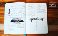 best monthly spread i've seen Floral Banners, Epiphany, Fathers Day, Bullet Journal, Instagram Posts, Bujo, Planners, Journaling, Live