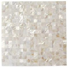 Splashback Tile Mother Of Pearl Serene White Squares 12 in. x 12 in. x 2 mm Seamless Pearl Shell Glass Wall Mosaic Tile-MOPWHTSQSEAMLESPEARL - The Home Depot