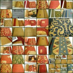 """Andrew Martin -Mughal Fabric Sample Book  from 1999s -31 pcs-  17""""x17"""""""
