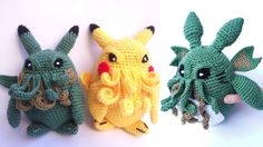 These Little Cthulhus Are the Most Adorable World Destroyers Ever  I must figure out how to make these!