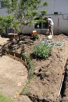 DIY concrete patio.