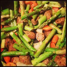 vegetarian #tofurky Stir-fried asparagus, fennel, carrots and celery ...