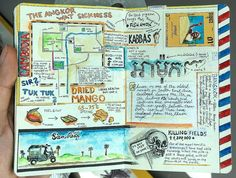 Interview: How an Avid Traveler Chronicles His Adventures Through Illustrated Journals - Interview: Avid Adventurer Reveals His Brilliant Travel Journal Ideas Journal Pages, Journal Ideas, Journal Challenge, Journal Inspiration, Videos Mexico, Photography Beach, Travel Photography, Graffiti, Pin On