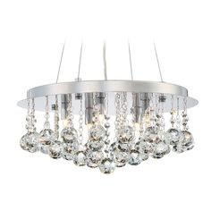 Quoizel Bordeaux with Clear Crystal Polished Chrome Pendant Light at Destination Lighting