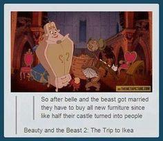 Beaty and the beast 2: trip to the IKEA