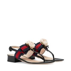 Gucci Web and leather sandal - view 2