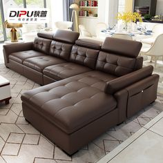 Corner Sofa - Receive The Furniture You Would Like With These Tips Corner Sofa Design, Living Room Sofa Design, Home Room Design, Bed Design, Living Room Designs, Sofa Set Designs, Modern Sofa Designs, Leather Living Room Furniture, Sofa Furniture