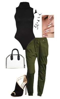 """Street fashion"" by fashionov-a ❤ liked on Polyvore featuring Publish, Jimmy Choo, STELLA McCARTNEY and Freebird"
