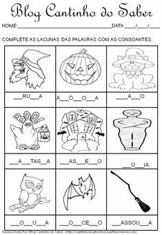 Atividade para o dia das bruxas halloween                                                                                                                                                                                 Mais