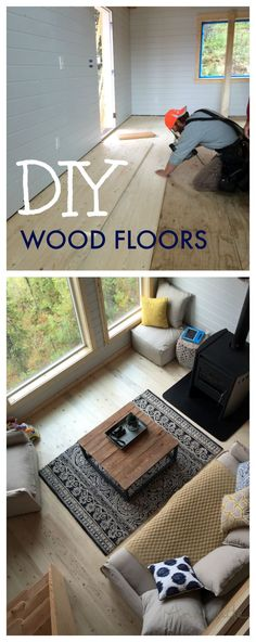 diy wood floors from 1x6 no stain, just clear coat