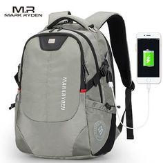 MR Men's Backpacks Bolsa Mochila for Laptop 14Inch 15 Inch 16 Inch Notebook Computer Bags