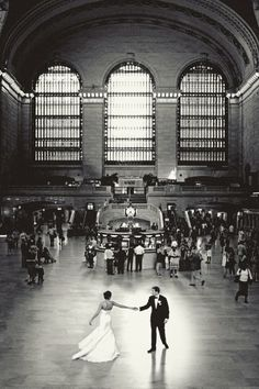 First dance at Grand Central Station