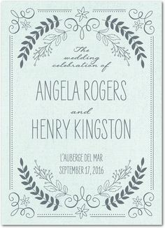 Classic, clean wedding invitation